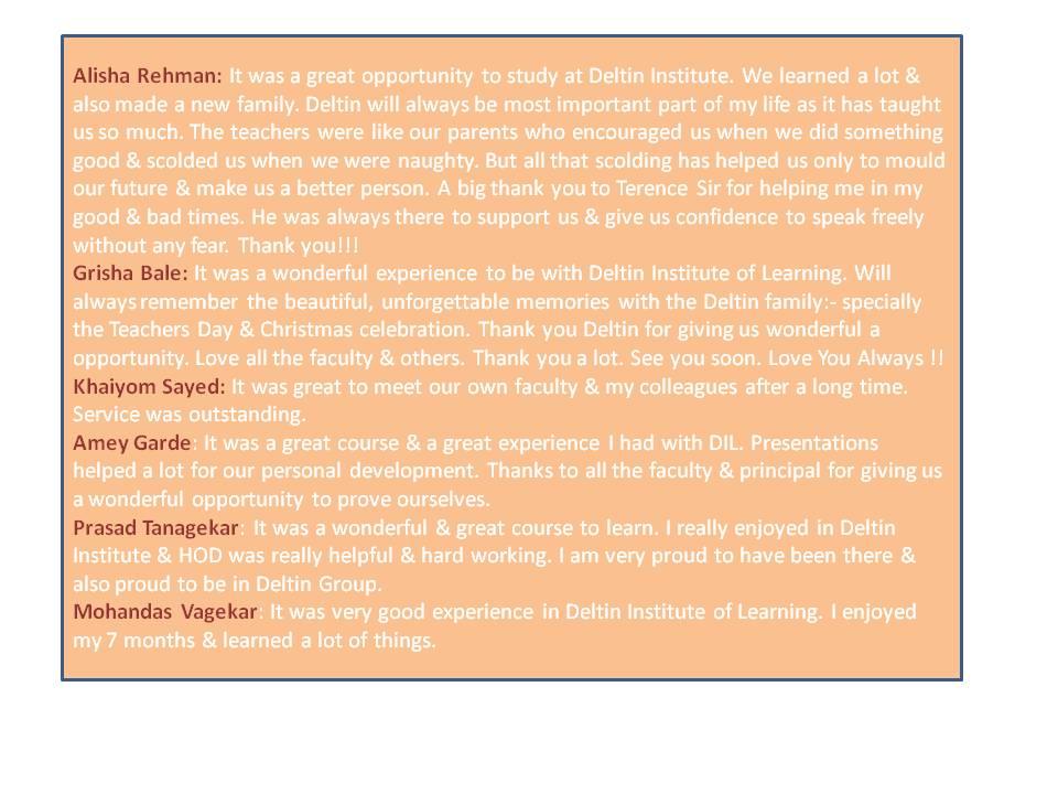 Ex student feedback 1